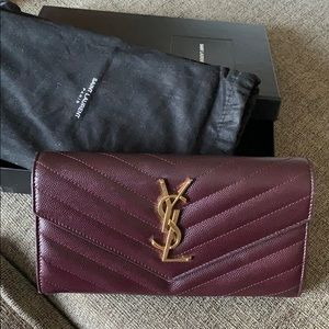 Authentic YSL Matelasse Envelope Wallet